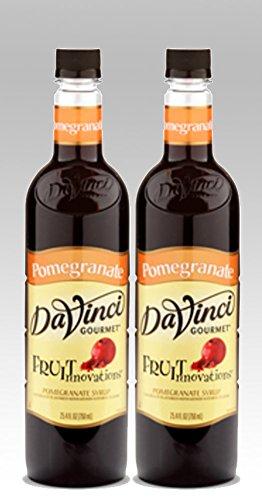 DaVinci Gourmet Fruit Innovations Pomegranate Flavored Syrup 2 Bottles