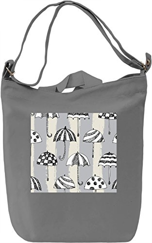 Umbrella Print Borsa Giornaliera Canvas Canvas Day Bag| 100% Premium Cotton Canvas| DTG Printing|