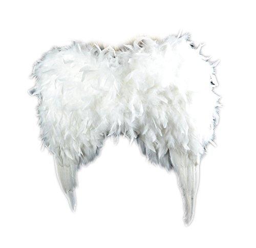 TOUCH de la naturaleza 10942plumas adulto alas de ángel con un halo, color blanco 24x 24-Inch