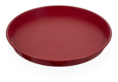 Arrow Home Products 19809 Round Serving Tray, Red,