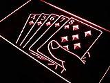 ADVPRO Straight Flush Poker Casino Game LED Neon Sign Red 12'' x 8.5'' st4s32-j428-r