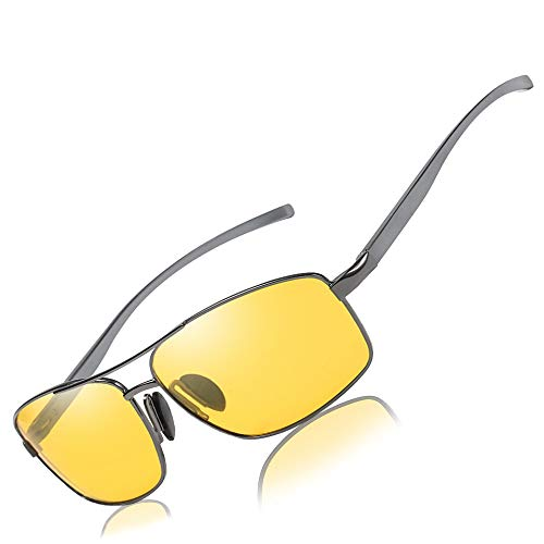 09983f616e Mens Womens Driving Polarized HD Sight Night Vision Driving Anti-Glare  Glasses with Yellow Lens