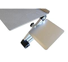 Lap Desk Removable Tilting Aluminum Mouse Pad Platform for WorkEZ Ergonomic Laptop Stand Adjustable WorkEZ Mouse Pad: Ambidextrous Standing Desk