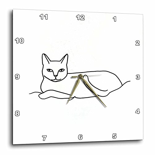 3dRose LLC Cat Laying Outline Art Drawing 10 by 10-Inch Wall Clock Review
