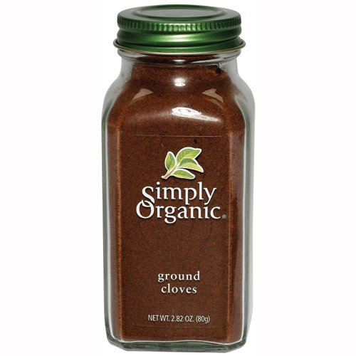 Simply Organic Cloves Ground Certified Organic, 2.82-Ounce Containers (Pack of 3)
