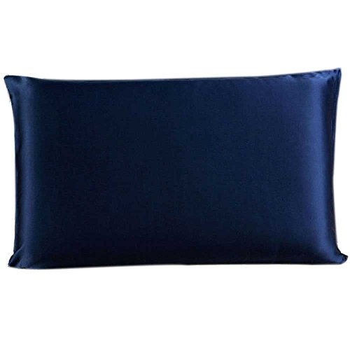 Savena Both Sides 22 Momme Mulberry Silk Pillowcase Benefit to Sleeping Soft Hypoallergenic Avoid Hair Falling Noble Design with Hidden Zipper 100% Natural Silk(Standard(20