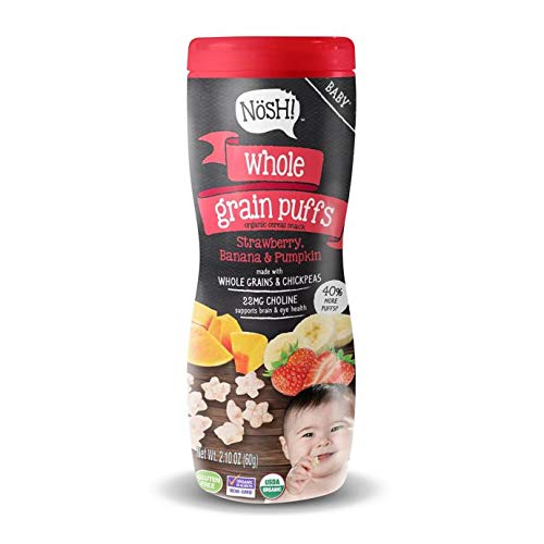 Nosh Whole Grain Puffs Cereal Snack 2.1 oz. (Strawberry, Banana, and Pumpkin) ()