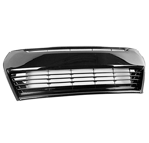 ZMAUTOPARTS 2014-2016 Toyota Corolla S OE Style Front Bumper Lower Grille Black with Chrome Trim ()