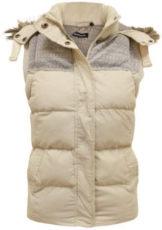 New Ladies Womens Sleeveless Hood Quilted Gilet Vest Bodywarmer Crop Top 8-16