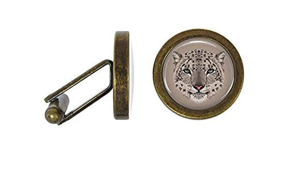 Snow Leopard Cufflinks Leopards Cuff Links Angled Edition