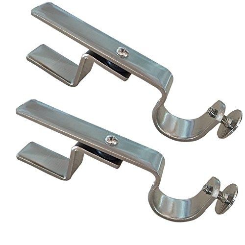 NONO Bracket - Inside Mounted Blinds Curtain Rod Bracket Attachment (Nickel) The NoNo Bracket Company IMVB