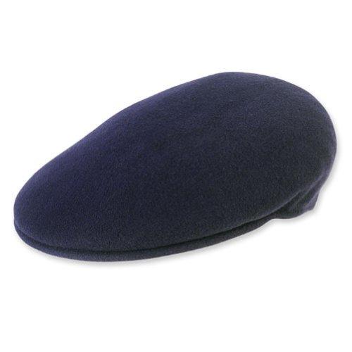 Kangol 504 Wool Cap Hat (Kangol Men's Wool 504 Cap (Large, Navy Blue))