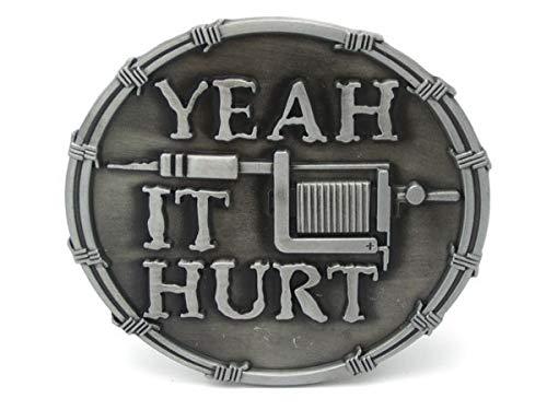 RQWY Hebilla del cinturón Sí, duele la máquina del tatuaje Hebilla ...