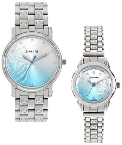 Analog Multi-Colour Dial Couple Watch -NK10138925SM01