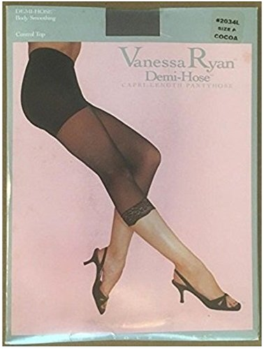 Vanessa Ryan Demi-Hose, Capri-length Pantyhose, Size A (Weight 100-150 lbs, Height 4-9 to 5-4), 2034L, Cocoa
