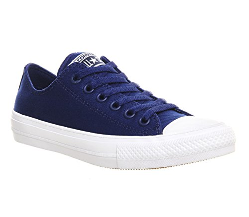 Converse Chuck Taylor All Star II - 150152C - Color White-Navy Blue - Size: 8.5 by Converse