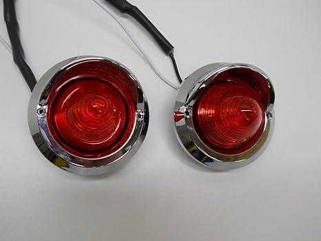 Red 2 Round 9 Led Beehive Mini Stop Turn Brake Tail Lights Golf