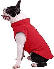 HNQH Roupas de cachorro modernas, casaco de inverno para filhotes, casaco de lã polar quente para cães e filho