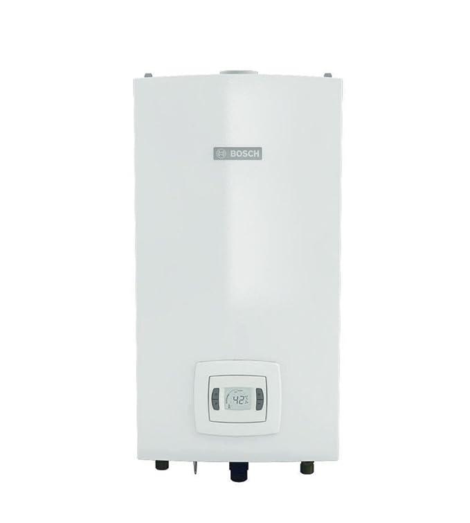 Bosch 7736504157 - Calentador de agua para interiores, a gas GLP, con cámara hermética, color blanco: Amazon.es: Bricolaje y herramientas