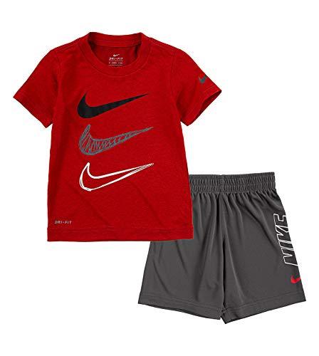 Nike Boys' Dri FIT Triple Futura Graphic T Shirt and Shorts 2 Piece Set