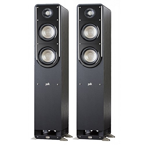 Polk Signature S55 American HiFi Home Theater Tower Speaker (Pair, Black) by Polk Audio