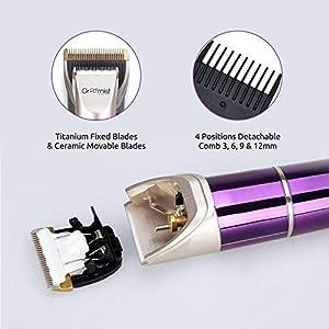 Groomiist Platinum Series Cordless Beard Trimmer PT-06 (Purple & Ivory)