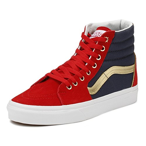 Vans SK8 Hi Marvel Captain Marvel Skate Shoes Size Men 4 Women 5.5