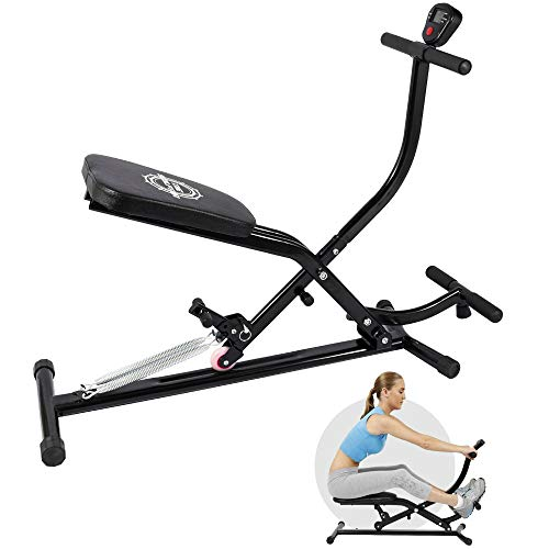 bigzzia Abdominal Trainers | Rowing Machine, AB Workout Machine Home Gym Strength Training Equipment for Glutes Workout
