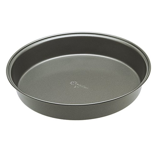 Ecolution Bakeins Round Cake Pan - PFOA, BPA, and PTFE Free Non-Stick Coating - Heavy Duty Carbon Steel - Dishwasher Safe - Gray - 9