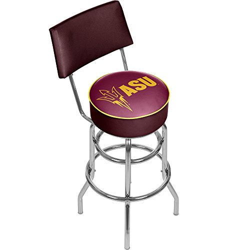 (NCAA Arizona State University Padded Swivel Bar Stool with Back)