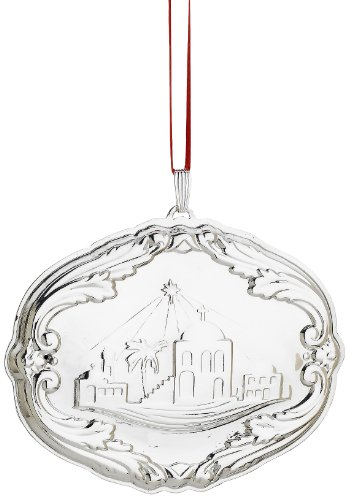 Reed & Barton Francis I Songs of Christmas Ornament, Bethlehem, 2-3/4-Inch
