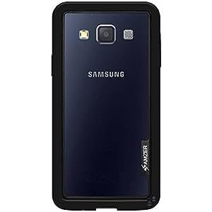 Amzer Border funda con tapa para Samsung GALAXY A3 SM-A300F - negro