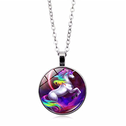 FLDC Pegasus Unicorn Time Necklace Alloy Pendant 18 Chain