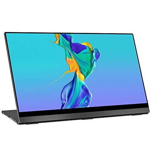 4K Portable Monitor Touchscreen, UPERFECT Gravity Sensor Automatic Rotate 15.6