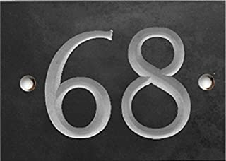 Completely Customisable Engraved Slate House Number//Address Plaque 13cm x 18cm