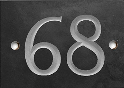 Slate Numbers - 1 to 99 (select your number here) - number 58 Same Day Dispatch!!!! Numbers & Names