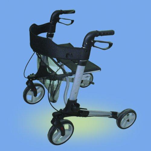Rollator Leichtgewicht Komplett-Set mit Gurt und Stockhalter für die Reise