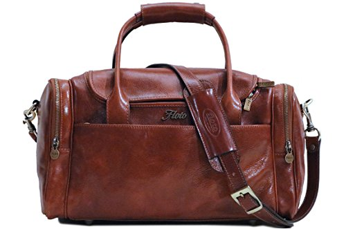 Floto Leather Cargo Duffle Bag Carryon Travel Bag Small by Floto
