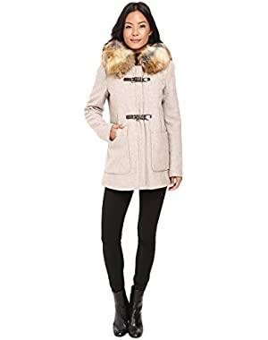 Women's Fur Trimmed Toggle w/ Oversized Pockets