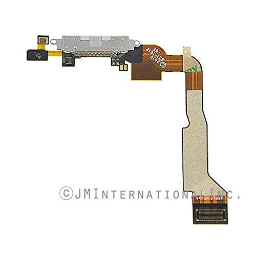 ePartSolution_Micro USB Charger Charging Port Dock Connector USB Port Flex Cable for iPhone 4 CDMA Replacement Part USA Seller (White) (Iphone Battery Replacement Port 4)
