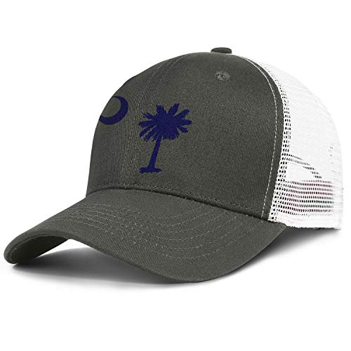 Adult Baseball Cap South Carolina Palm Tree State Flag Adjustable Sandwich Mesh Cap Hats