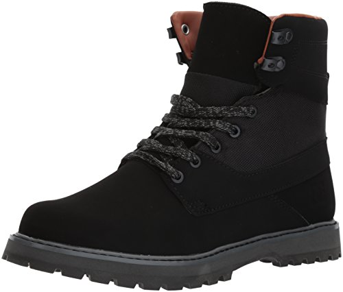 DC Men's Uncas, Black/Black/Dark Grey, 12 D D US