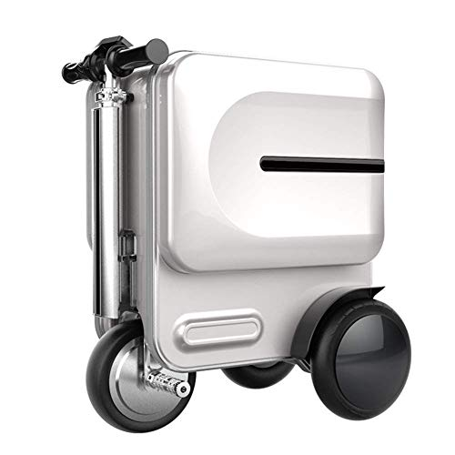 L&QQ Electric Travel Suitcase Bike,Foldable Electric Smart Luggage Car for Airport and School,AWHITE (Electric Scooter For Adults Price In India)