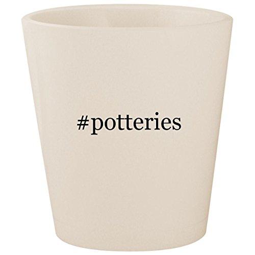 #potteries - White Hashtag Ceramic 1.5oz Shot Glass ()