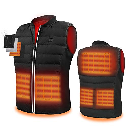 5V Heated Vest For Men,USB Charging Electric Lightweight Body Warmer Clothes Washable Heating Pad Apparel Jacket for Men&Women Hiking, Hunting, Motorcycle, Camping
