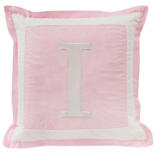 (Sweet Dreams Monogrammed Pillow Cover - I - Pink)