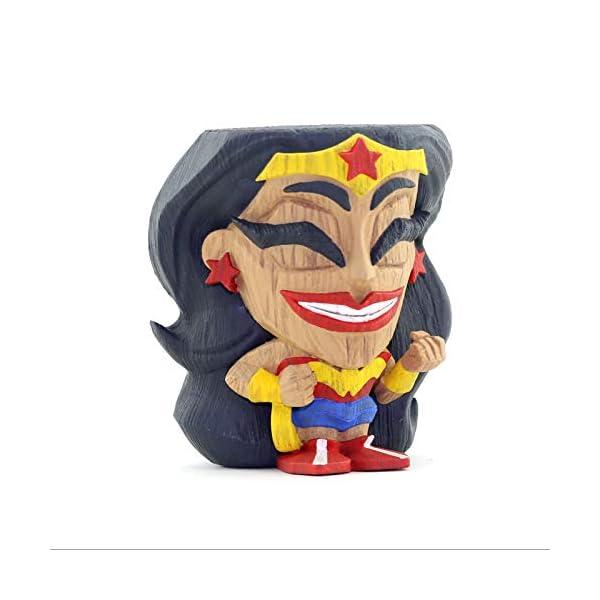 41l5l70mokL Cryptozoic Entertainment Wonder Woman Teekeez Figure - 2.62-Inch Stackable Vinyl Tiki Figure - Wood-Carved Aesthetic