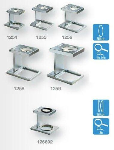 Eschenbach No. 1255 Metal Precision Stand Magnifier Linen Testers 10x Magnification 40D dpt, Silikat Lens 12 mm Diamenter