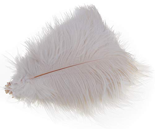 Wowlife Set of 50, 15-20cm Real Natural White Home Decor Ostrich Feathers Party Wedding Decorations Feather ¡­