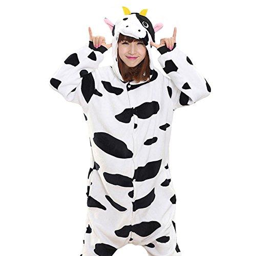 Tortor 1bacha Unisex Adult Cow Kigurumi Costume Flannel Pajama Homewear XL